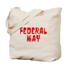 Federal Way Faded (Red) Tote Bag
