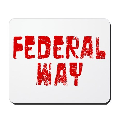 Federal Way Faded (Red) Mousepad