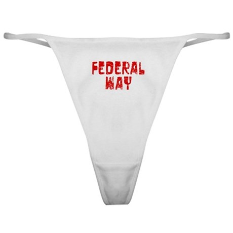 Federal Way Faded (Red) Classic Thong