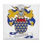 Cardona Family Crests Tile Coaster
