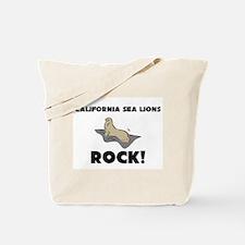 California Sea Lions Rock! Tote Bag