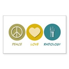 Peace Love Radiology Rectangle Decal