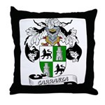 Carranza Family Crest Throw Pillow