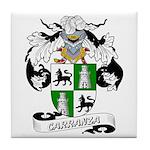 Carranza Family Crest Tile Coaster