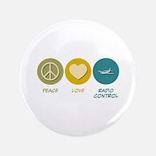 "Peace Love Radio Control 3.5"" Button (100 pac"