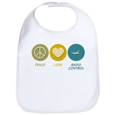 Peace Love Radio Control Bib