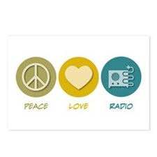 Peace Love Radio Postcards (Package of 8)