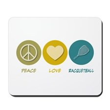 Peace Love Racquetball Mousepad