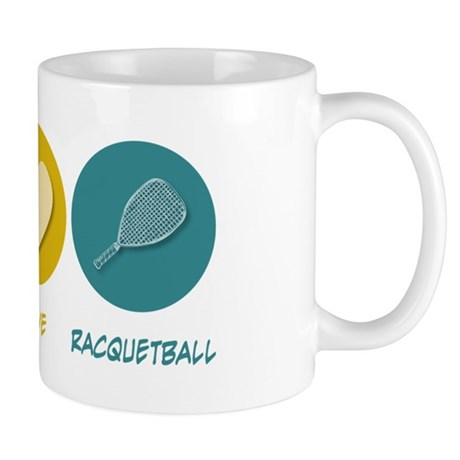 Peace Love Racquetball Mug