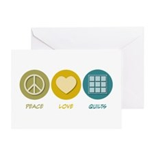 Peace Love Quilts Greeting Card