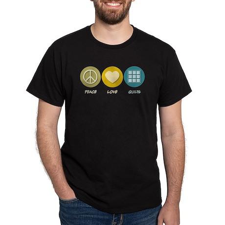 Peace Love Quilts Dark T-Shirt