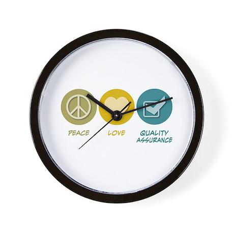 Peace Love Quality Assurance Wall Clock