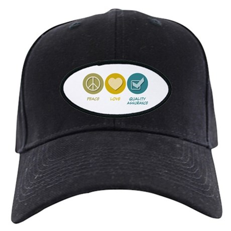 Peace Love Quality Assurance Black Cap