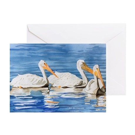 White Pelicans Greeting Cards (Pk of 10)