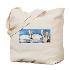 White Pelicans Tote Bag