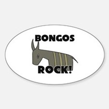 Bongos Rock! Oval Bumper Stickers