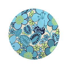 Blue Hippie Flower Art 3.5