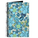 Blue Hippie Flower Art Journal