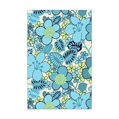 Blue Hippie Flower Art Posters