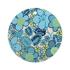 Blue Hippie Flower Art Ornament (Round)