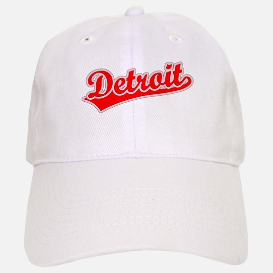 Retro Detroit (Red) Baseball Baseball Cap