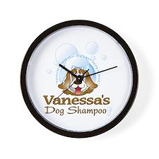 Vanessa's Dog Shampoo Wall Clock
