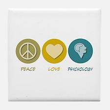 Peace Love Psychology Tile Coaster
