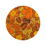 "Floral 1960s Hippie Art 3.5"" Button"