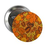 "Floral 1960s Hippie Art 2.25"" Button"