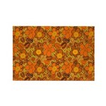 Floral 1960s Hippie Art Rectangle Magnet (100 pack