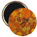 "Floral 1960s Hippie Art 2.25"" Magnet (10 pack)"