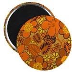 "Floral 1960s Hippie Art 2.25"" Magnet (100 pack)"