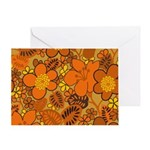 Floral 1960s Hippie Art Greeting Card