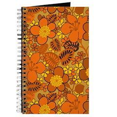 Floral 1960s Hippie Art Journal