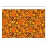 Floral 1960s Hippie Art Small Poster
