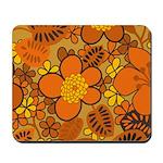 Floral 1960s Hippie Art Mousepad