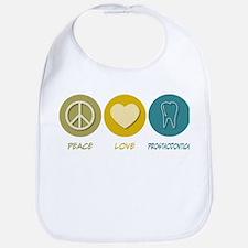 Peace Love Prosthodontics Bib