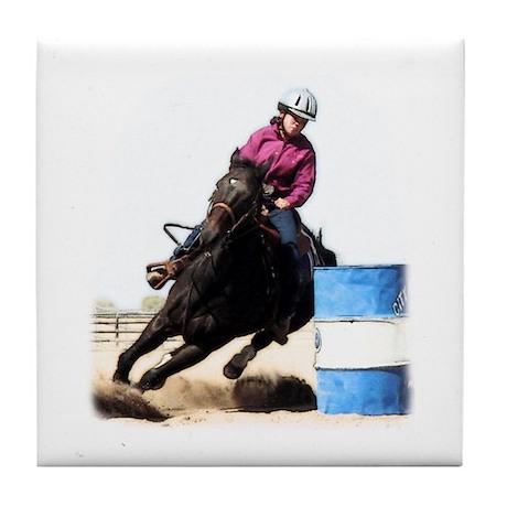 Barrel Racing #24c Tile Coaster