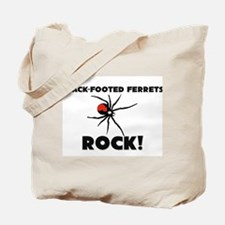 Black-Footed Ferrets Rock! Tote Bag