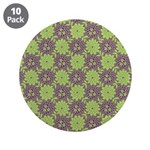 "Retro Floral Print 3.5"" Button (10 pack)"