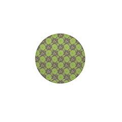 Retro Floral Print Mini Button