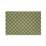 Retro Floral Print Rectangle Magnet (10 pack)