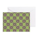 Retro Floral Print Greeting Cards (Pk of 10)