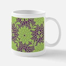 Retro Floral Print Ceramic Coffee Mug
