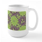 Retro Floral Print Large Mug (15 oz)