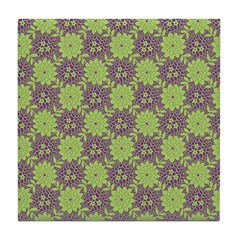 Retro Floral Print Tile Drink Coaster