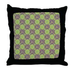 Retro Floral Print Throw Pillow