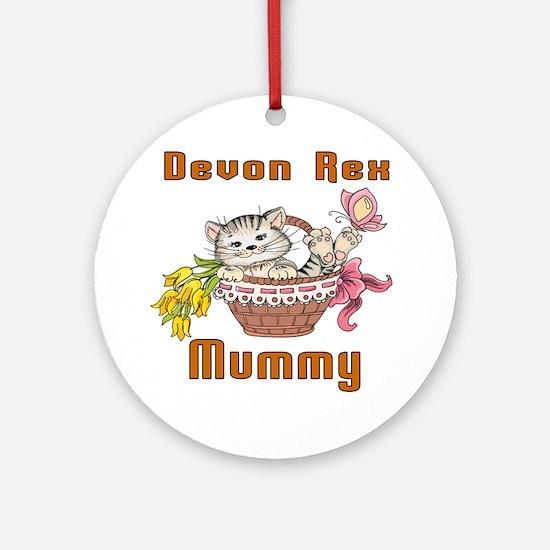 Devon Rex Cat Designs Round Ornament