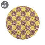 "Mod Retro Floral Print 3.5"" Button (10 pack)"