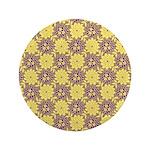 """Mod Retro Floral Print 3.5"""" Button"""